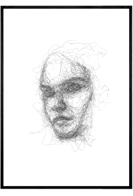Scribble Face #3