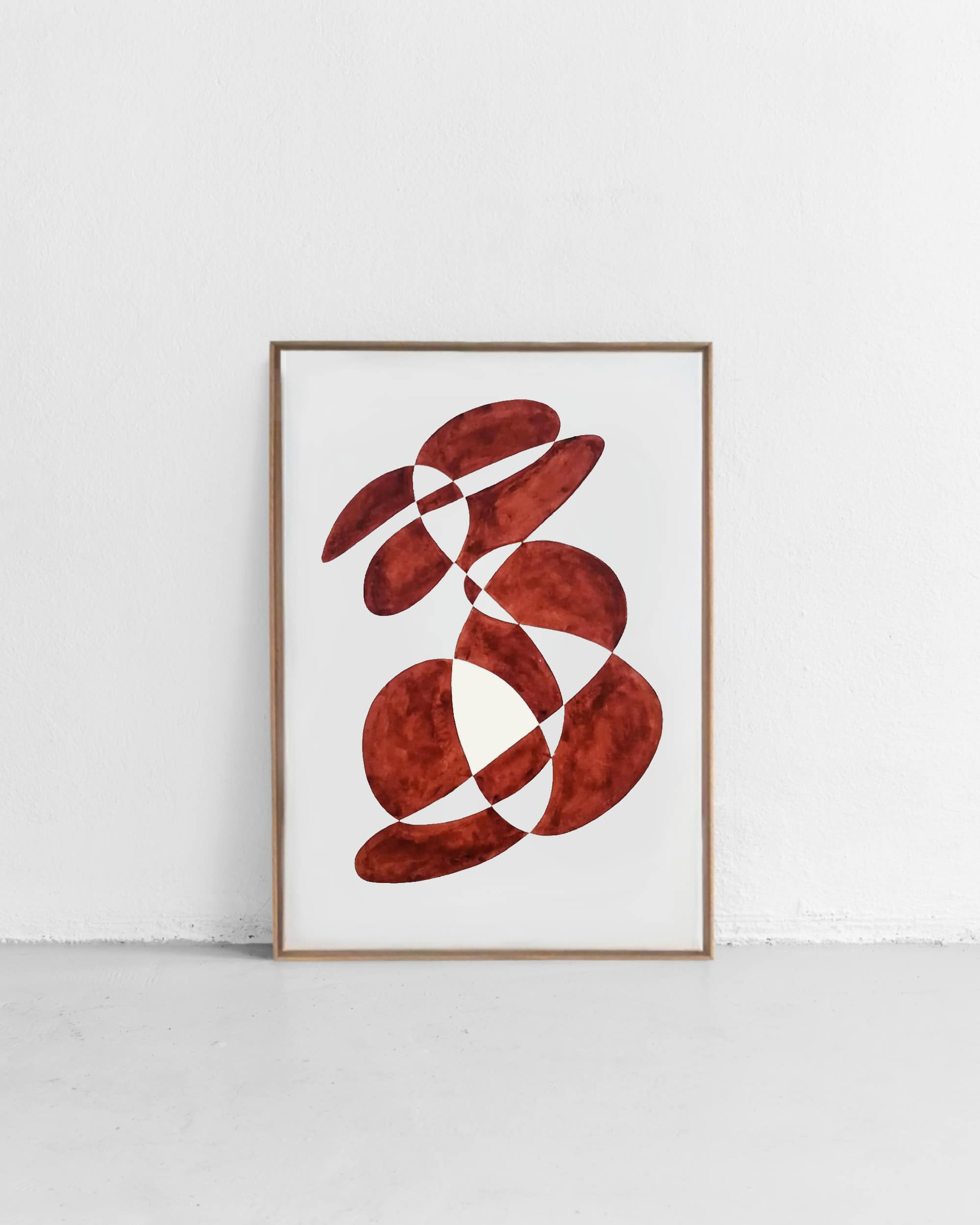 Shape study – Dark Red I