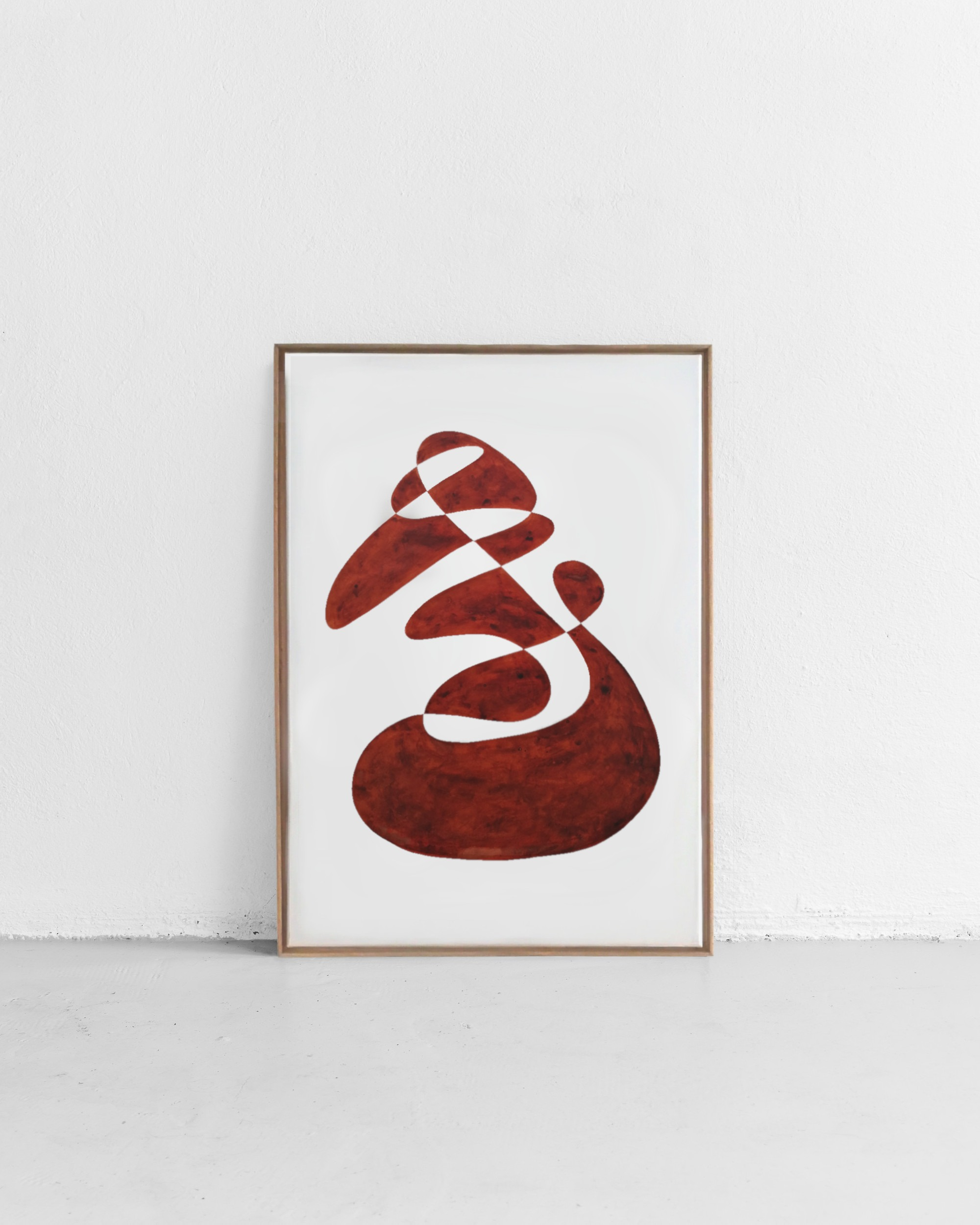 Shape study – Dark Red II
